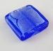 Blauw donker zilverfolie vierkant plat