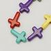 synthetische edelstenen kruis gekleurde howliet